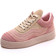 Women's Sneakers Spring / Summer / Fall / Winter Flats Suede Athletic / Casual Flat Heel Lace-up Pink / White Sneaker