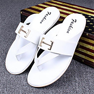 Men's Slippers & Flip-Flops Spring Fall PVC Outdoor Casual Flat Heel Others Black White Other