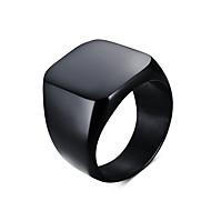 Statementringen Titanium Staal Modieus Vintage Eenvoudige Stijl Zwart Zilver Sieraden Dagelijks Causaal Kerstcadeaus 1 stuks