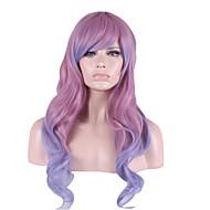lavanda pelo en colores pastel con punto culminante púrpura de color rosa pálido cuerpo personalidad femal onda de gradiente con flequillo