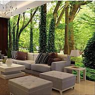secesní motiv / 3D Tapety pro domácnost Moderní Wall Krycí , Plátno Materiál lepidlo požadováno Nástěnná malba , pokoj tapeta