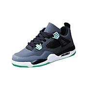 יוניסקס-נעלי אתלטיקה-עור-נוחות-שחור ירוק אדום לבן אפור-יומיומי-עקב שטוח