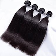 Человека ткет Волосы Индийские волосы Прямые 4 предмета волосы ткет