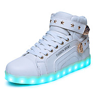 Women's LED Light Shoes Sneakers Fashion Boots / Comfort Synthetic Casual Flat Heel Lace-up Black / Red / White Others