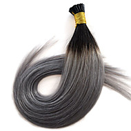 14-24 Ombre 1B Silver Grey Pre Bonded Keratin Hair Extension Flat Tip Fushion Hair 1g/s Human Hair