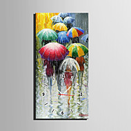E-HOME® All Kinds of Umbrellas in The Rain Clock in Canvas 1pcs