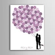 e-home spersonalizowany podpis płótnie niewidoczne kadrów - różowy balon para