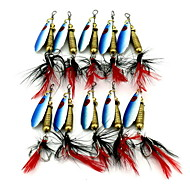 1 pcs Iscas Buzzbait & Spinnerbait / Iscas Iscas Buzzbait & Spinnerbait Azul Escuro 6 g Onça mm polegada,Metal Isco de Arremesso