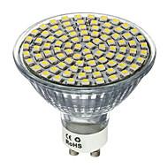 1pcs 4w 80smd 2835 400-450lm ledスポットライトgu10 / mr16 gu5.3涼しい/暖かい白ledスポットライトac220-240v
