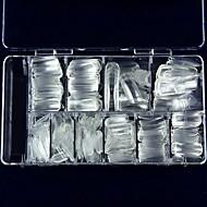 clouer un morceau de ks super clair pleins de faux ongles cristal faux ongles demi 100 pièces de boîte postale de l'ongle