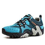 Women's Athletic Shoes Spring / Fall Comfort Suede Casual Flat Heel Lace-up Blue / Brown / Gray / Orange / Khaki Hiking / Trail Running