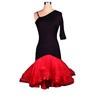 Latin Dance Dresses Women's Performance / Training Spandex / Crepe Ruched 1 Piece Half Sleeve Dress S-4XL:95cm