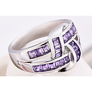 Pierścionki na palec środkowy Cyrkonia Cyrkon Cyrkonia Stop minimalistyczny styl Modny Purple BiżuteriaŚlub Impreza Codzienny Casual