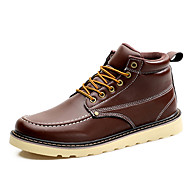 Men's Boots Spring / Summer / Fall / Winter Fashion Boots / Comfort Casual Flat Heel Lace-up Black / Brown / Red Others
