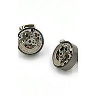 Cufflinks 2pcsSolid Gold / Gray Fashionable Cufflink Men's Jewelry