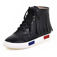 Women's Boots  Fashion Boots / Bootie Leatherette Outdoor / Office & Career / Casual Platform OthersBlack / White /