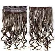 24inch 60cm 120g klip na prodlužování vlasů vlnitý klip na příčesky
