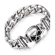 Kalen Punk Skull Charm Bracelet High Polished 316L Stainless Steel Link Chain Skeleton Bracelet For Men Rock Accessories