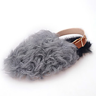 Women's Flats Spring / Fall / Winter Comfort Leather Casual Flat Heel Fur Black / Brown / Gray Others