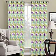 Jeden panel Window Léčba Designové , S lístky Obývací pokoj Polyester Materiál záclony závěsy Home dekorace For Okno