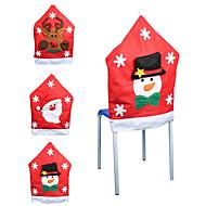 סנטה קלאוס פתית שלג דפוס כיסוי כיסא קישוטי חג המולד חג המולד אספקה קישוט (סגנון אקראי)