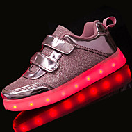 LED Light Up Shoes,Girl's Flats Spring / Fall Comfort Tulle Casual Flat Heel Others / Hook & Loop Black / Brown Others