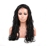 Grade 8A Brazilian Virgin Hair Lace Wig Water Wave 100% Unprocessed Human Hair Lace Front Wig With Middle Brown Cap