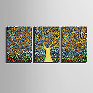 Canvas Set Abstrakt / Blomstret/Botanisk Europeisk Stil,Tre Paneler Lerret Vertikal Print Art Wall Decor For Hjem Dekor