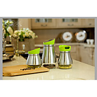Food Grade Stainless Steel Tempered Glass Storage Jar Storage tank Kitchen Accessories 3pcs/set