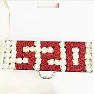 """פרחי חתונה בצורה חופשיה ורדים קישוטים חתונה פרחים מיובשים 19.3""""(לערך.49ס""""מ)"""