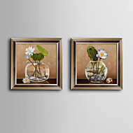 E-HOME® Framed Canvas Art, The Flower in The Glass Framed Canvas Print Set of  2