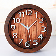 cadeaux heureux de haute qualité en bois de couleur mitation rétro horloge en bois de style européen