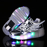Unisex Kid Boy Girl LED Light Up Single Wheel Sneaker Athletic Shoes Sport Shoes Roller Shoes Dance Boot