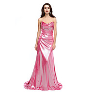 TS Couture® Formal Evening Dress - Sparkle & Shine A-line Cowl Court Train Jersey with Pleats