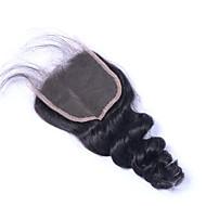 3.5x4 lezárása Laza hullám Emberi haj Bezárás Világos barna Svájci csipke 60 gramm Átlagos Cap Méret