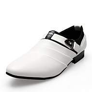 Men's Oxfords Comfort Leather Party & Evening / Dress Flat Heel Buckle / Slip-on Black / Brown / White EU38-43