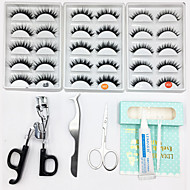 Eyelashes lash Full Strip Lashes Eyes Thick Volumized Handmade Fiber Black Band 0.10mm