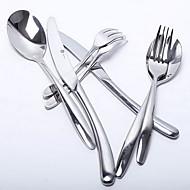 Aço Inoxidável 304 Garfo Principal / Faca Principal / Concha de Molho / Colher de Especialidade / Chopsticks Colheres / Garfos / Facas4
