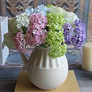 3 3 Ág Selyem Hortenzia Asztali virág Művirágok 32CM
