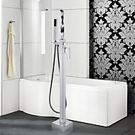 Contemporary / Art Deco/Retro / Modern Tub And Shower Widespread /  Pullout Spray with  Ceramic ValveSingle Handle One