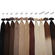 neitsi 20 calowy 1g / s 100g ombre paznokci keratyny fuzji u przechylić proste 100% ludzkich włosów rozszerzeń