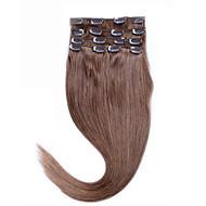 8a sexy 14-26 přírodní vlasy klip extentions 100% panenský vlasy klip # 10 střední zlatohnědá lidský rovné vlasy báječný