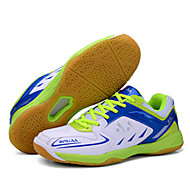 Unisex Athletic Shoes Fall Comfort Leather Athletic Platform Lace-up Blue Yellow Red Badminton