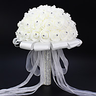 1 1 Gren Polyester Roser Bordblomst Kunstige blomster 25(9.84'')