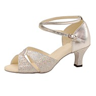 Aanpasbaar-Dames-Dance Schoenen(Zilver) - metSpeciale hak- enLatin / Salsa / Swingschoenen
