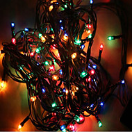 MX-QCD 100L 10 Meter Decorate  Lights String Bring Holiday Christmas Tree Lights Flashing  Automatic Color Changing