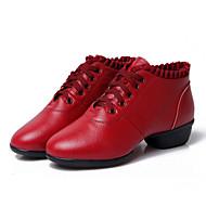 Sapatos de Dança(Preto / Vermelho) -Feminino-Personalizável-Latina / Jazz / Tênis de Dança / Moderna