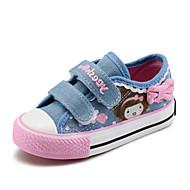 Para Meninas-Tênis-Conforto-Rasteiro-Azul-Lona Algodão-Ar-Livre Casual