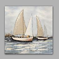 Ručně malované Abstraktní / Krajina olejomalby,Moderní / Klasický Jeden panel Plátno Hang-malované olejomalba For Home dekorace