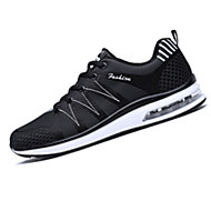 Men's Athletic Shoes Spring Fall Mary Jane Microfibre Outdoor Office & Career Casual Flat Heel Lace-up Black White Running